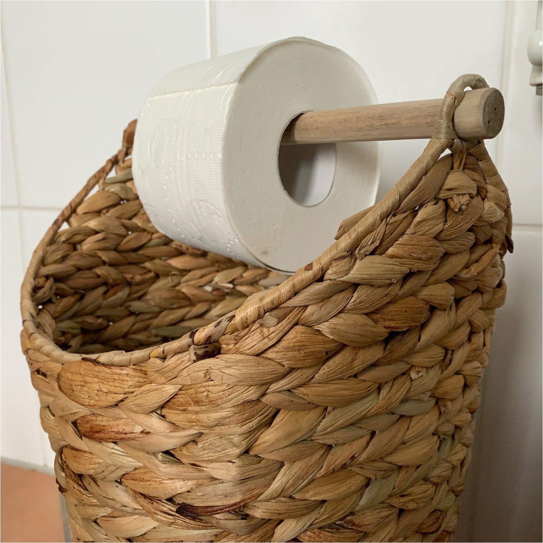 Badezimmer Deko Korb toilettenpapier Ständer Deko Korb Braun Klorollen Halter Rattan Look