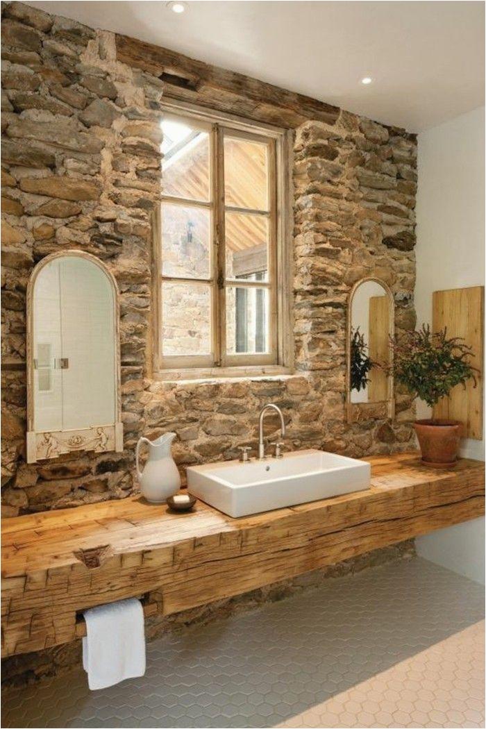 Badezimmer Ideen Stein Ausgefallene Designideen Für Ein Landhaus Badezimmer