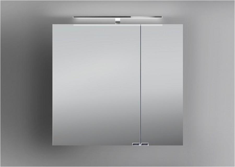 Badezimmer Lampe Spiegelschrank Spiegelschrank Bad 60 Cm Led Beleuchtung Doppelt Verspiegelt