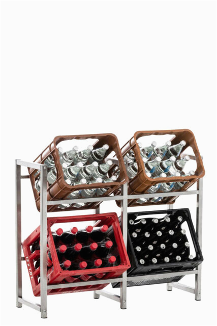 Badezimmer Regal Ebay 4er Getränkekistenständer Lennert Farbe Schwarz