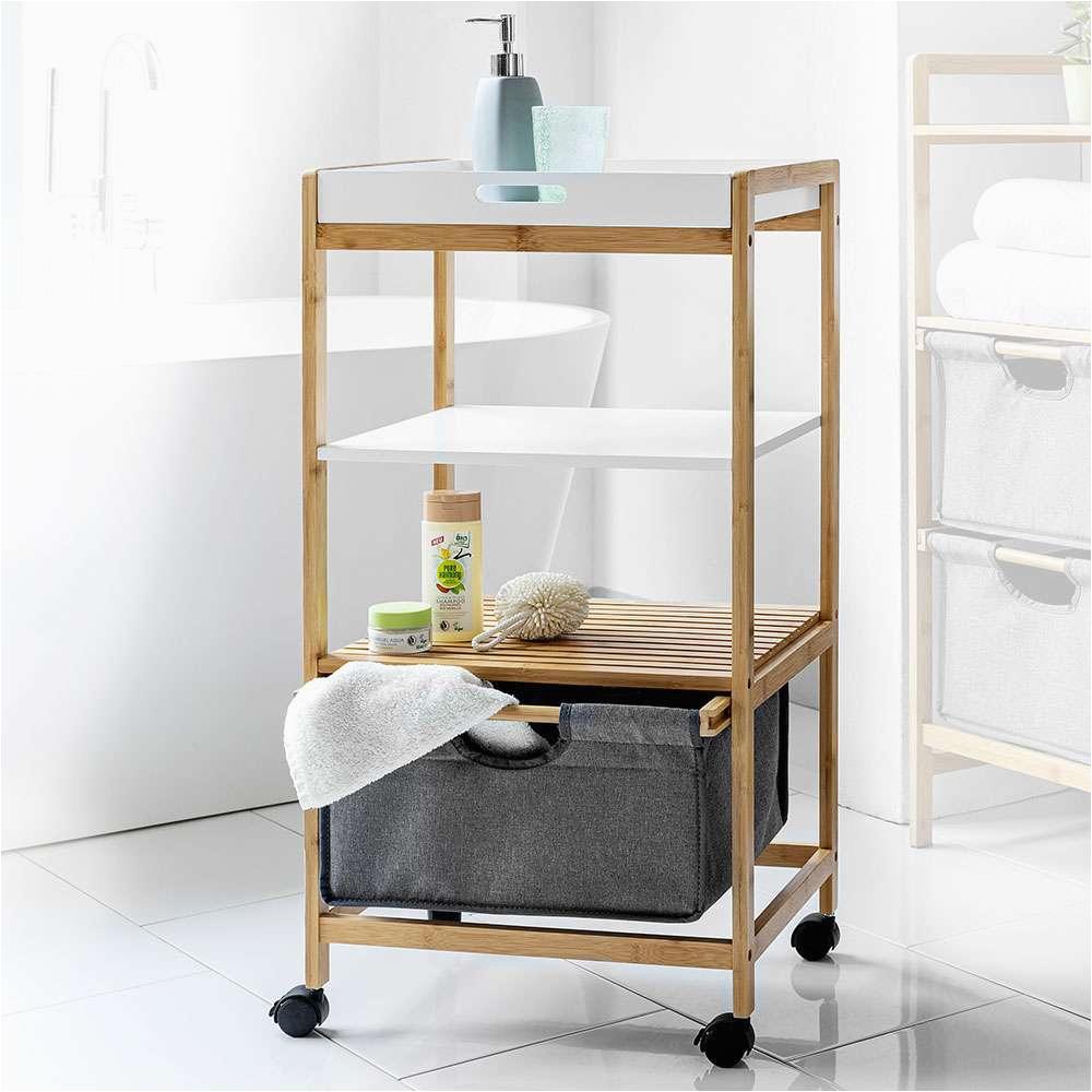 Badezimmer Regal Roller Happy Home Bambus Badregal Mit Korb