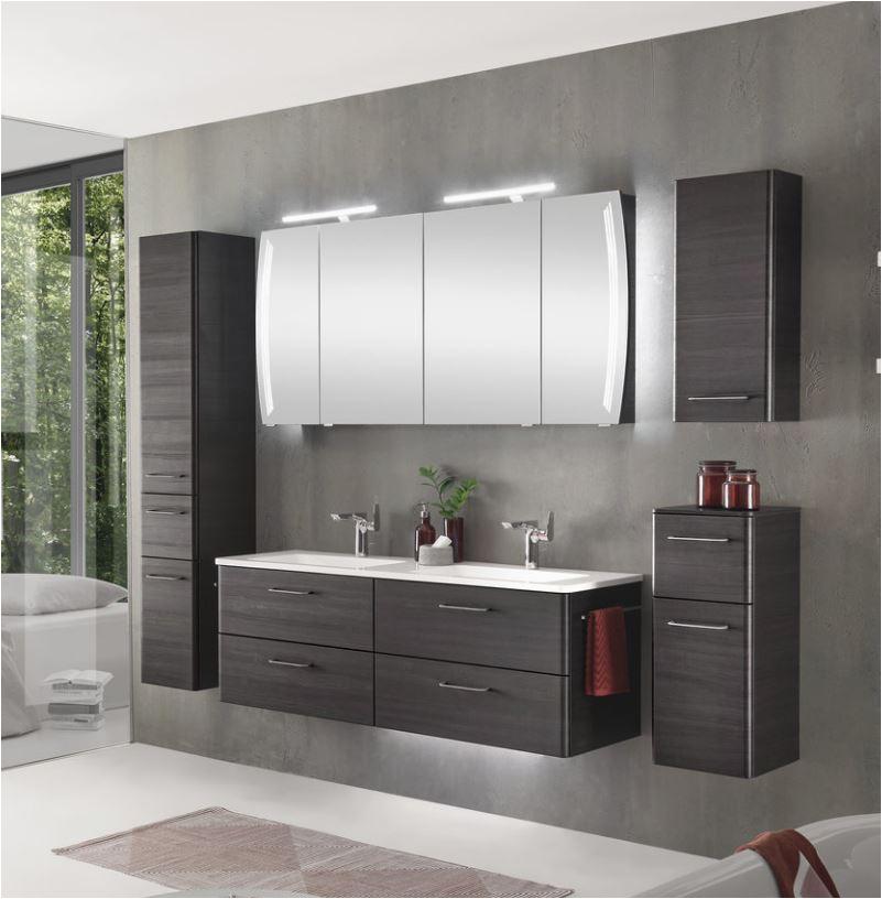 Badezimmerschrank Quer Pelipal solitaire 7035 Badmöbel Set 140 Cm Breit Doppelwaschtisch Und Spiegelschrank
