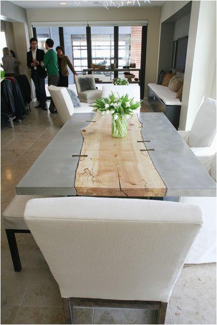 Q Badezimmermöbel Holz Beton Tisch