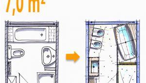 Badezimmer 7 Qm Ideen Badplanung Beispiel 7 Qm Freistehend Badewanne Mit Wc Bidet