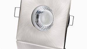 Badezimmer Lampe Ip65 Led Einbaustrahler Flach Ip65 Edelstahl Gebürstet Eckig 5w Dimmbar fora