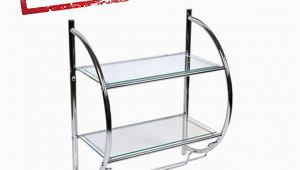 Badezimmer Regal Glas Chrom Dekoratives Badregal Wandregal Glasregal Mit 2 Glasablagen Und 2 Praktischen Handtuchhaltern Chrom Und Glas Hxbxt 54x45x26cm