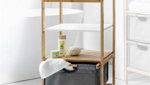 Badezimmer Regal Rund Happy Home Bambus Badregal Mit Korb