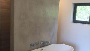 Badezimmer Wand Dekoration Wohlfühloase Bad Wand Spachteltechnik Sichtbeton Fliesen In