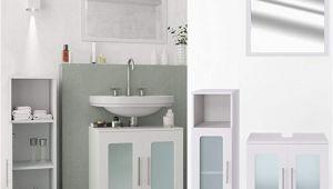 Badezimmermöbel Dunkelgrau Vicco Badmöbel Set Rayk Weiß Grau Beton Spiegel