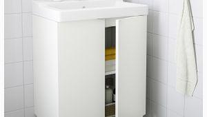 "Badezimmerschrank Waschbecken Ikea Lill…ngen T""lleviken Waschkommode 2 Türen Weiß"