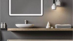 Badezimmerspiegel 50 Cm Badspiegel Ecken Abgerundet Lucente
