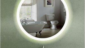 Badezimmerspiegel 60er Jahre 60 Cm Runder Wandspiegel Mit Led Beleuchtung Für Badezimmer