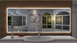 Badezimmerspiegel Auf Maß Badspiegel Pontivy Mit Led Beleuchtung