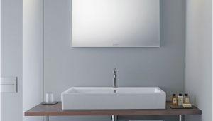 """Badezimmerspiegel Led Uhr Duravit """"good"""" Spiegel Mit Led Beleuchtung Oben 80×70 Cm Lm Wandschaltung"""
