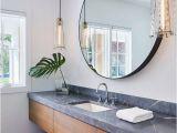 Badezimmerspiegel Rustikal Grauer Speckstein Erhabener Look Modernes Badezimmer