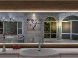 Badezimmerspiegel Steckdose Badspiegel Pontivy Mit Led Beleuchtung