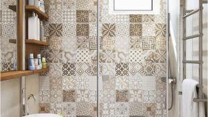 Diy Badezimmer Fliesen Patchwork Fliesen Und Erdtöne Für Eine Apartment Einrichtung