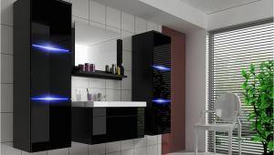 Real Badezimmer Schrank Badmöbel Set 5 Tlg Schwarz Hochglanz Dream Inkl Waschtisch Inkl Led
