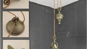 Schlafzimmer Lampe Antik Industrie Pendelleuchte Mit Zugpendel Messing Antik Premium Hängeleuchte Lampe