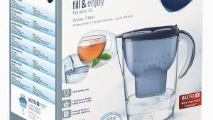 """Tischwasserfilter Glas Brita Wasserfilter """"marella Xl"""" 3 5 Liter In Blau"""