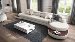 U Shape sofa Design 2019 Designer Rundsofa Xxl Ecksofa Leder Big Pala Mit Holzablagen