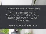 Vorhang Für Küchenschrank Garderobe Ikea Hack